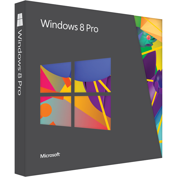 Microsoft Windows 8 Pro Upgrade from Win XP, Vista, Win 7