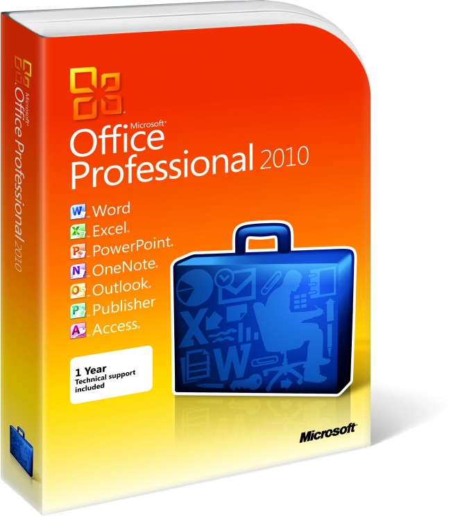 MS OFFICE 2010  PROFESSIONAL RETAIL CARD ONLY